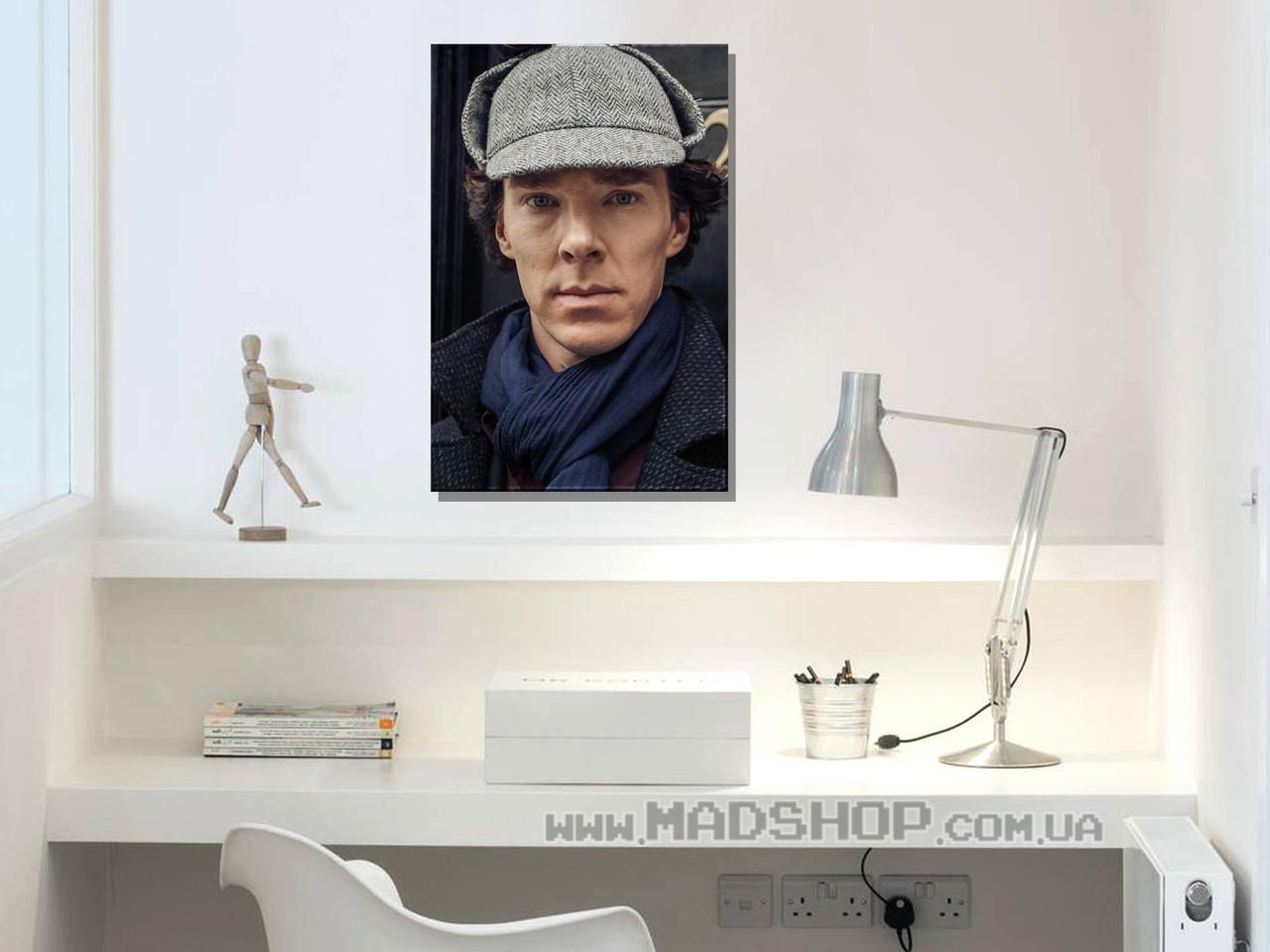 Картина 40х60 см Шерлок Холмсв шляпе