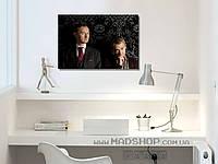 Картина 60х40 см Шерлок Холмс Ватсон и Маинкрофт