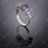 Серебряное кольцо с аметистом. Артикул П-155