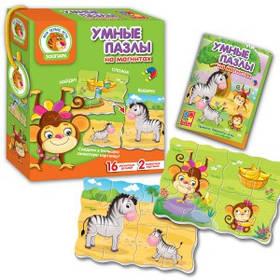 """Магнітна гра """"Розумні пазли"""" Зоопарк VT1504-32 (рос)"""