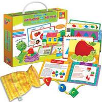 Розвиваюча гра . Більше ніж Кольори та Фігури. Ігри з гудзиками, Vladi Toys, VT2801-20
