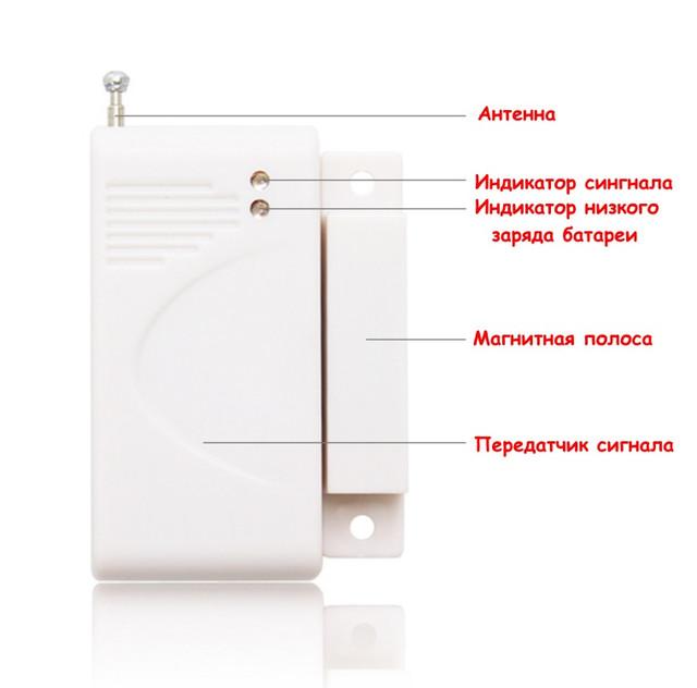 Внутренний беспроводной датчик открытия окна/двери 433МГц Smart OCD-1