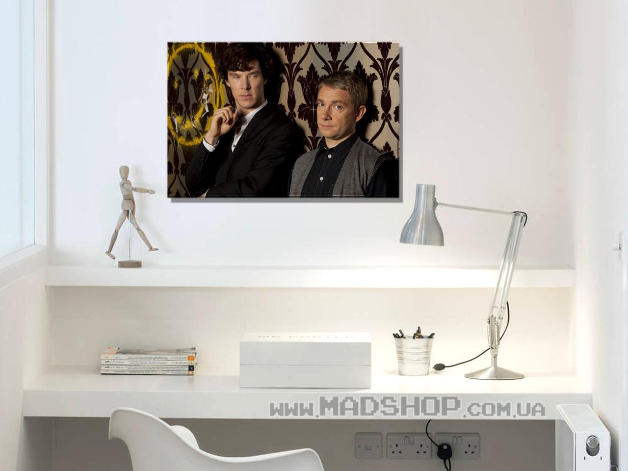 Картина 60х40 см Шерлок Холмс на деле