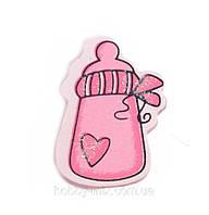 Наклейка BABY_pink (бутылочка)