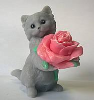 Мыло Котик с розой