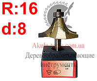 R16 d8 Фреза AКУЛА pobedit кромочная калевочная