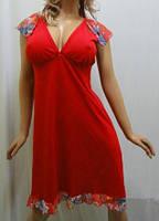 Ночная рубашка, сорочка, ночнушка, туника женская хлопок с гипюром