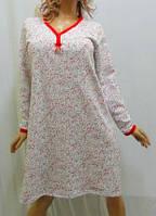 Ночная рубашка, сорочка, ночнушка женская, байковая, с длинным рукавом, 52,54 р-р
