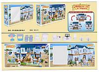 """Игровой набор вилла """"Happy Family"""" - домик с аксессуарами, подсветка, 2 фигурки животных."""