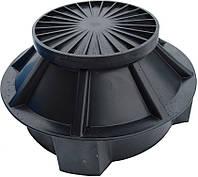 Колодец для размещения соединительных муфт и укладок запаса оптико- волоконного и энергетического кабеля