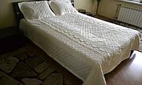 Сатиновое покрывало с наволочками Fashion Home Krem 230*260