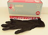 Перчатки нитриловые неопудренные Comfeel черные