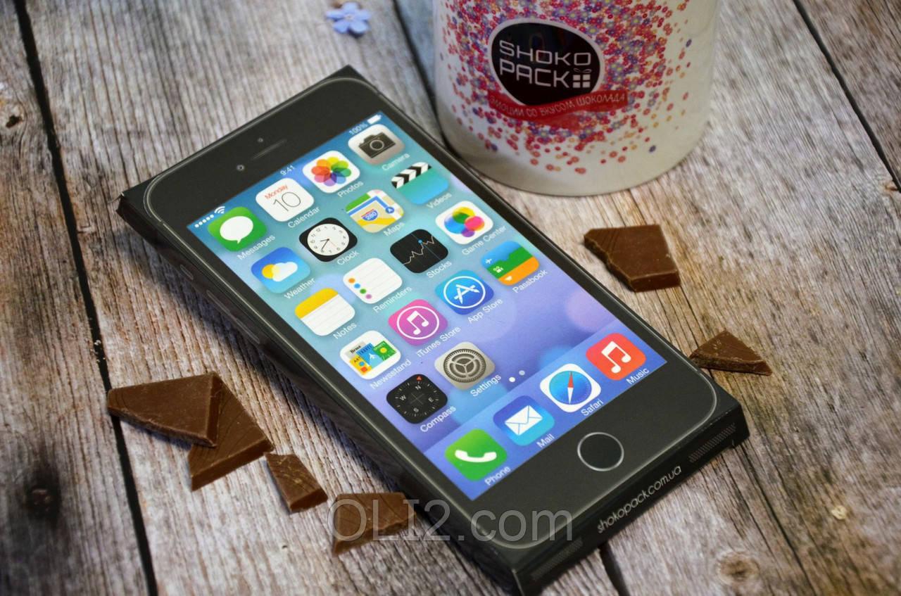 Шоколадка шоколадная плитка на подарок ПЛИТКА IPHONE ЧЁРНЫЙ