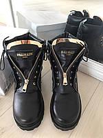 Крутые женские ботинки BALMAIN натуральная кожа