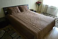 Сатиновое покрывало с наволочками Fashion Home Brown 230*260