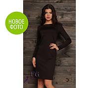 """Платье """"Dress code"""", французский трикотаж, длинное - 102 см, длинный рукав - 62 см, размеры 42, 44, 46, 48"""