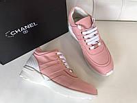 Новинка брендовые кроссовки Chanel розовые