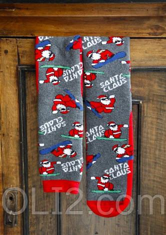 Мужские махровые новогодние носки HUE