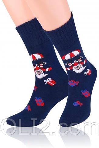 Мужские носки новогодние на подарок теплые