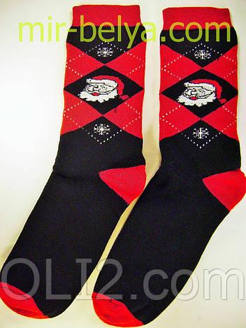 Мужские носки новогодние на подарок махровые