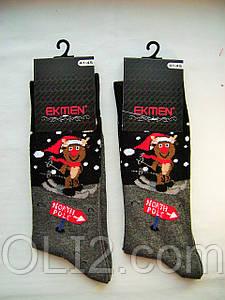 Мужские яркие носки новогодние на подарок Ekmen