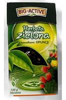 Чай зеленый листовой Big-Active Herbata zielona с кактусом 100 гр