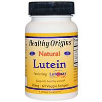 Лютеин 20 мг 60 капс витамины для глаз защита зрения от вредного излучения компьютеров Healthy Origins USA