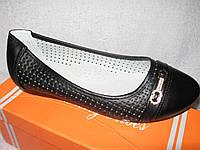 Туфли в школу  для девочки р.32-37 черные в дырочку