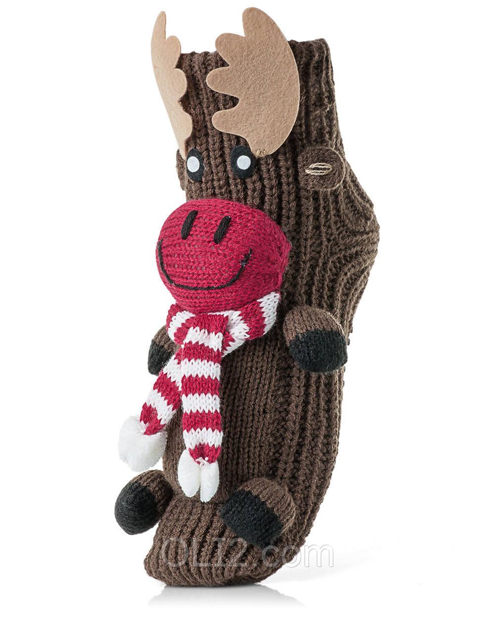 Женские детские носки ATTRACTIVE  3 D игрушка Олень коричневый