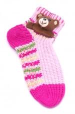 Женские носки с аппликацией 3 д новогодние