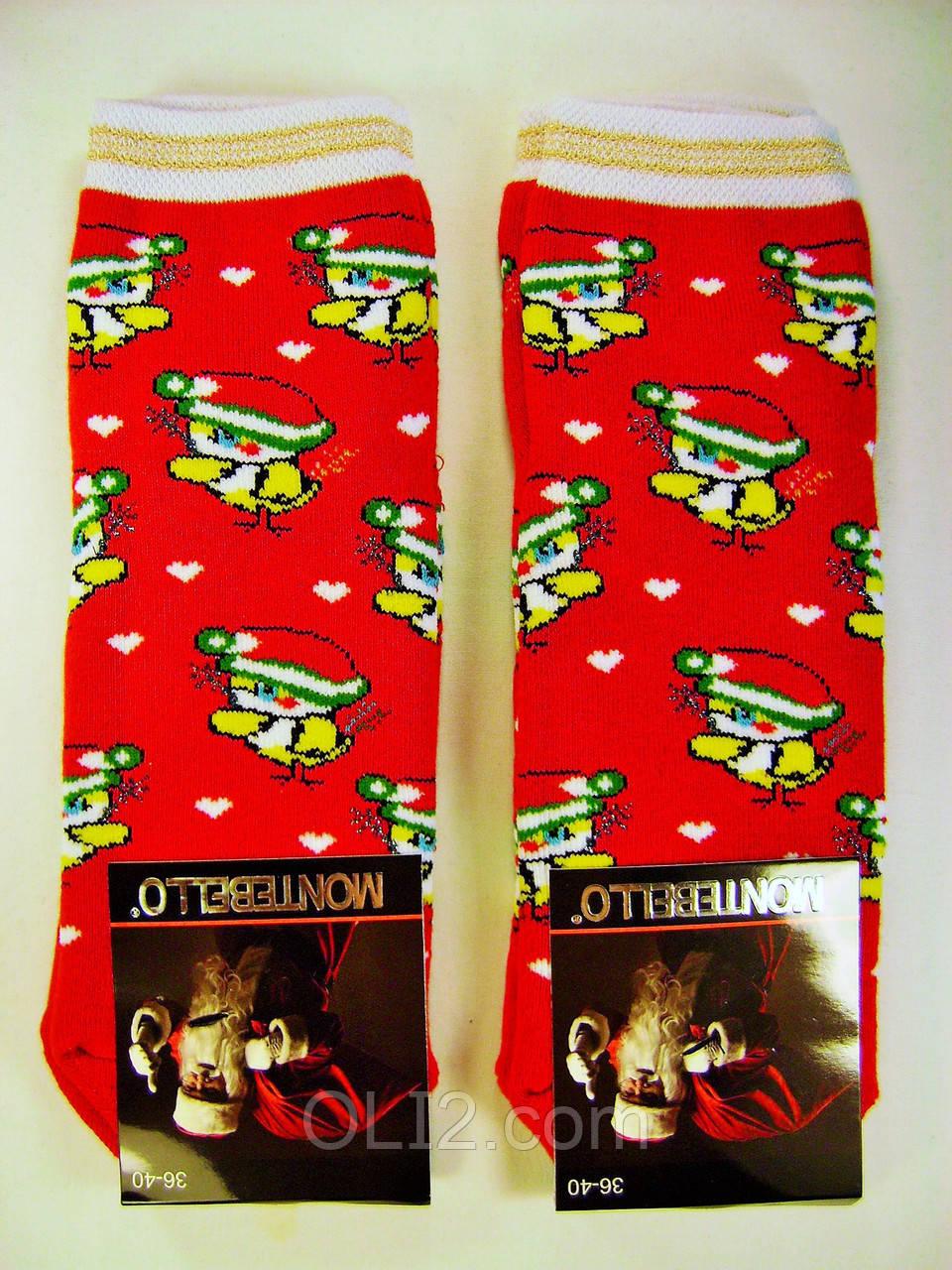 Женски носки новогодние на подарок махровые под елку