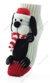 Женские носки 3 D - тапочки игрушка ATTRACTIVE  на подарок