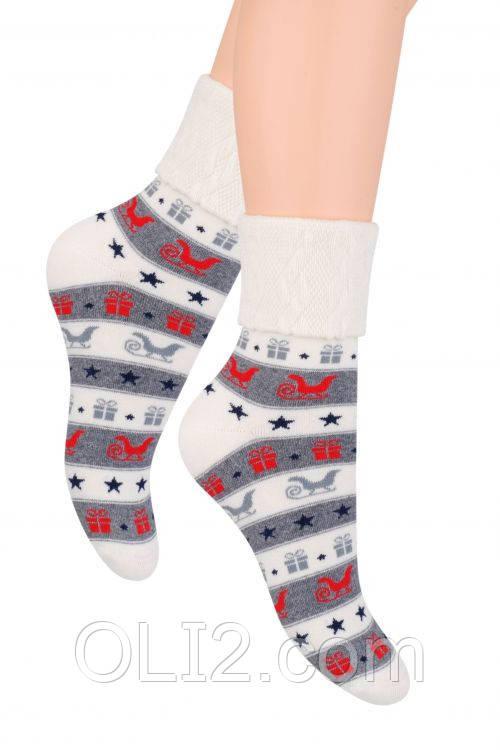 Женские носки новогодние на подарок теплые steven