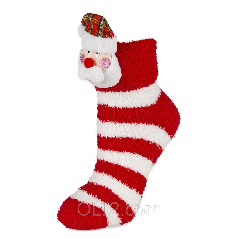 Женские новогодние носки махровые на подарок очень теплые
