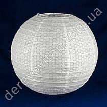 Подвесной фонарик ажурный, белый, 25 см