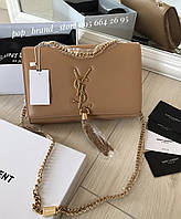 Очаровательная женская сумочка SAINT LAURENT натуральная кожа