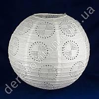 Подвесной фонарик с рисунком, белый, 25 см