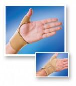 Бандаж на лучезапястный сустав с фиксацией пальца 8552 коричневый, Люкс Медтекстиль