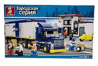Конструктор Трейлер SLUBAN M38-B0318 «Городская серия», 537 деталей