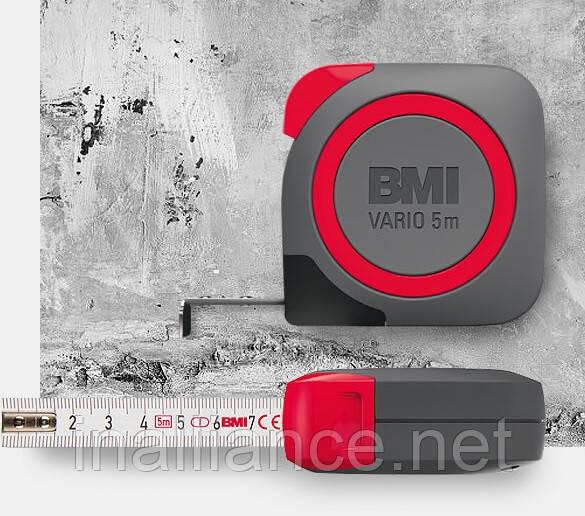 Рулетка вимірювальна 5 метрів 1 клас точності Vario BMI 411541820-EGI