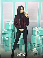 Женская стильная куртка из велюра, фото 1