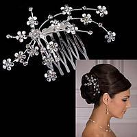 Гребень заколка Цветоблеск свадебные украшения для волос тиара тиара виктория