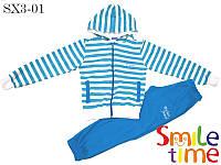 Детский трикотажный костюм р.110,116,122,128,134,140 SmileTime кофта и штаны My Best Friend, бирюзовый