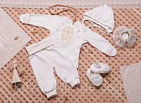 .Одежда для крестин, для девочки 1849беж.Хлопок-интерлок,в наличии _62_68рост