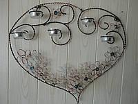 Подсвечник настенный «Любящее сердце», фото 1