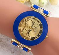 Cтильные женские часы в стиле Сarolina Нerrera , силиконовый ремешок , синие