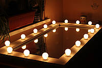 """Зеркало """"Кураж"""" с подсветкой для артистической гримерки , фото 1"""