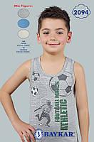 """Детское белье для мальчиков из Турции оптом. Майка детская для мальчика """"Атлет""""  TM Baykar р.4 (134-140см)"""