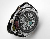 Часы спортивные I-POLW, стальные противоударные, черный циферблат