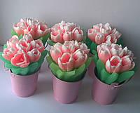 Мыло Тюльпаны в ведерке